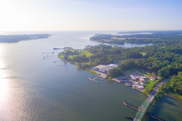 Aerial view of Morningstar Marinas Gwynn's Island