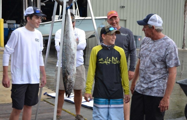 Tournament fishermen with their King Mackerel catches