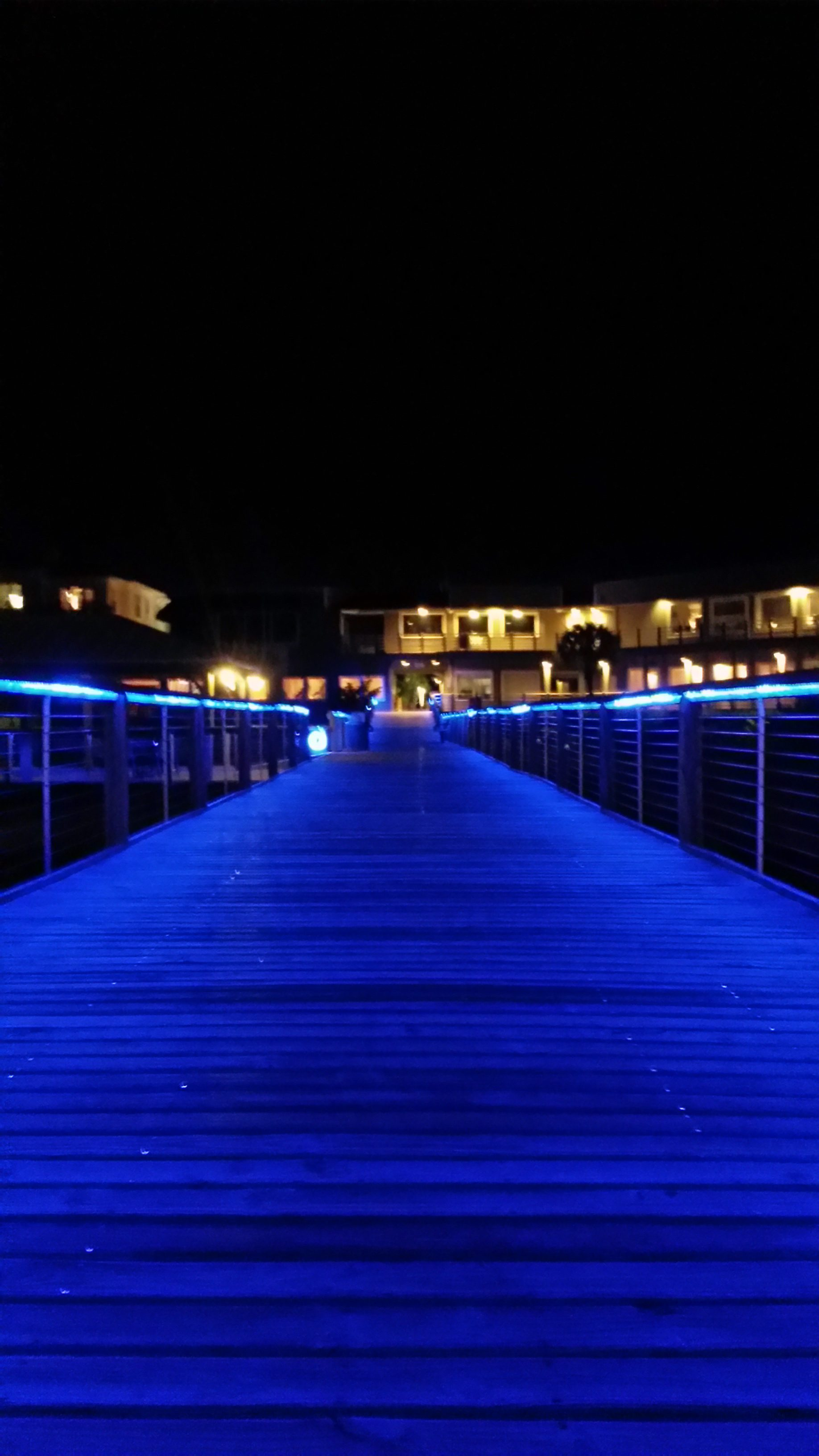 Lighted boardwalk