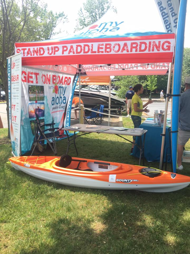 Paddle Boarding Booth at Kings Point Boating Festival