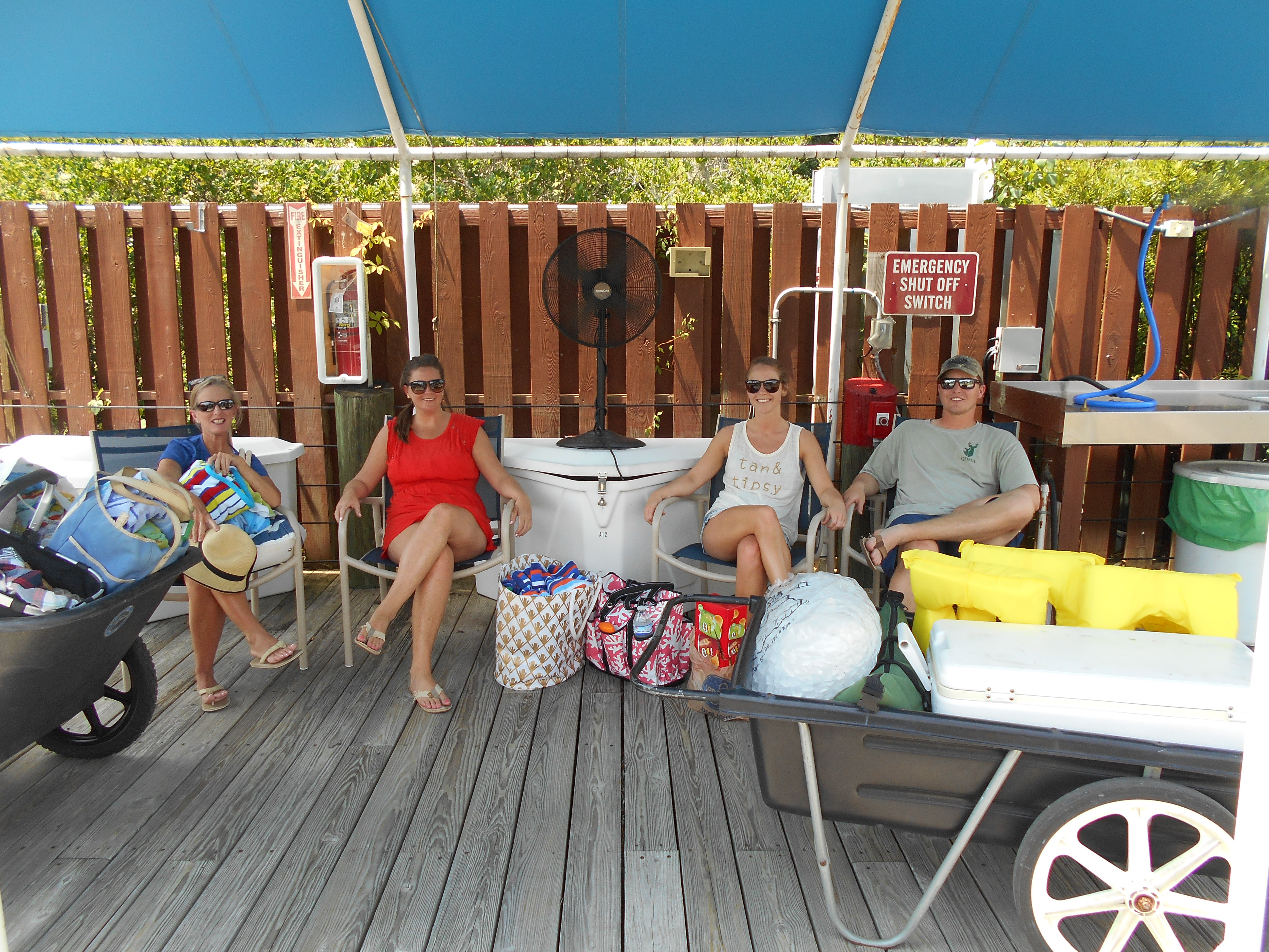Family at RHYC fish cleaning station