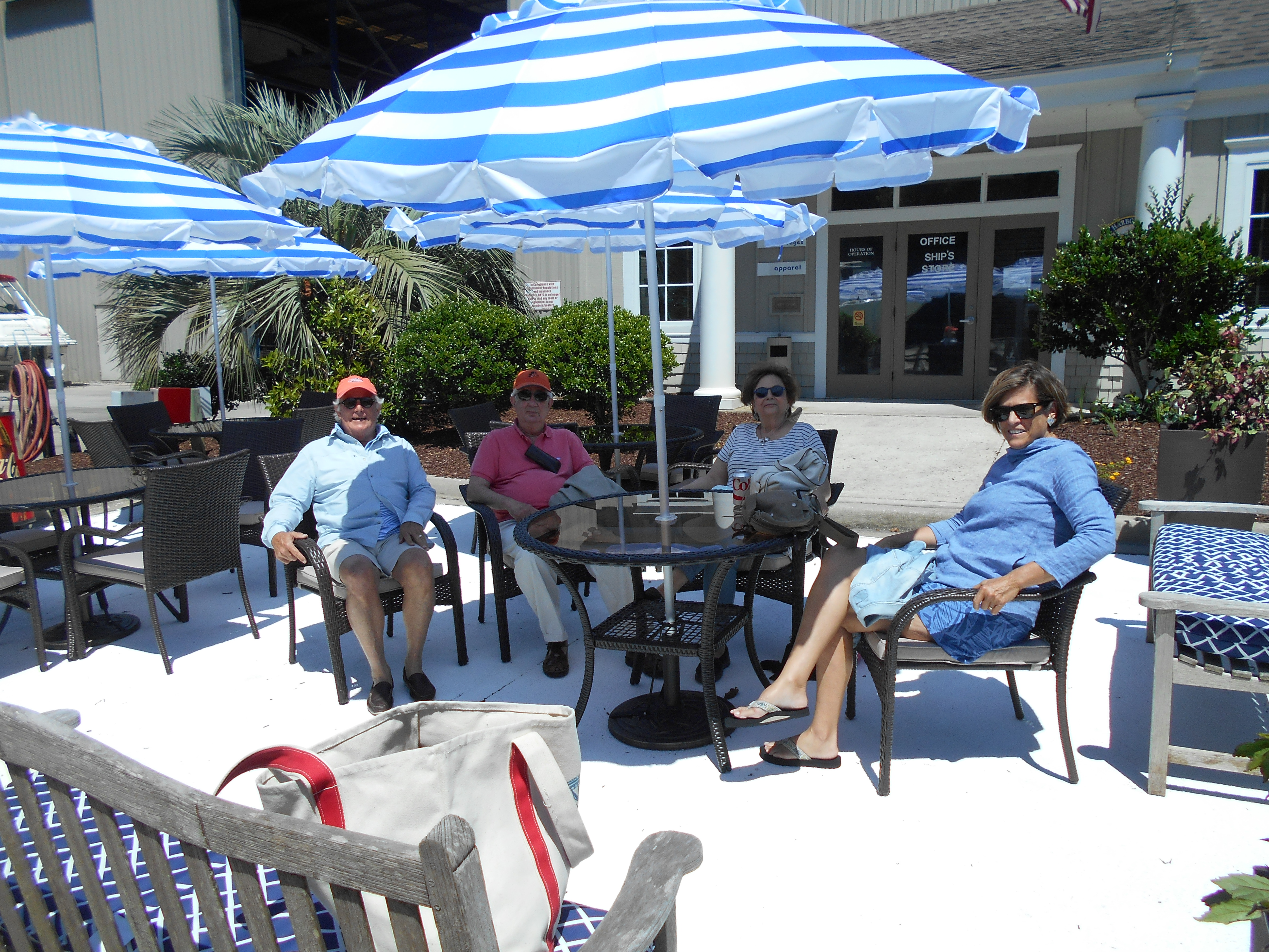 Sharpe family at Reserve Harbor Yacht Club patio