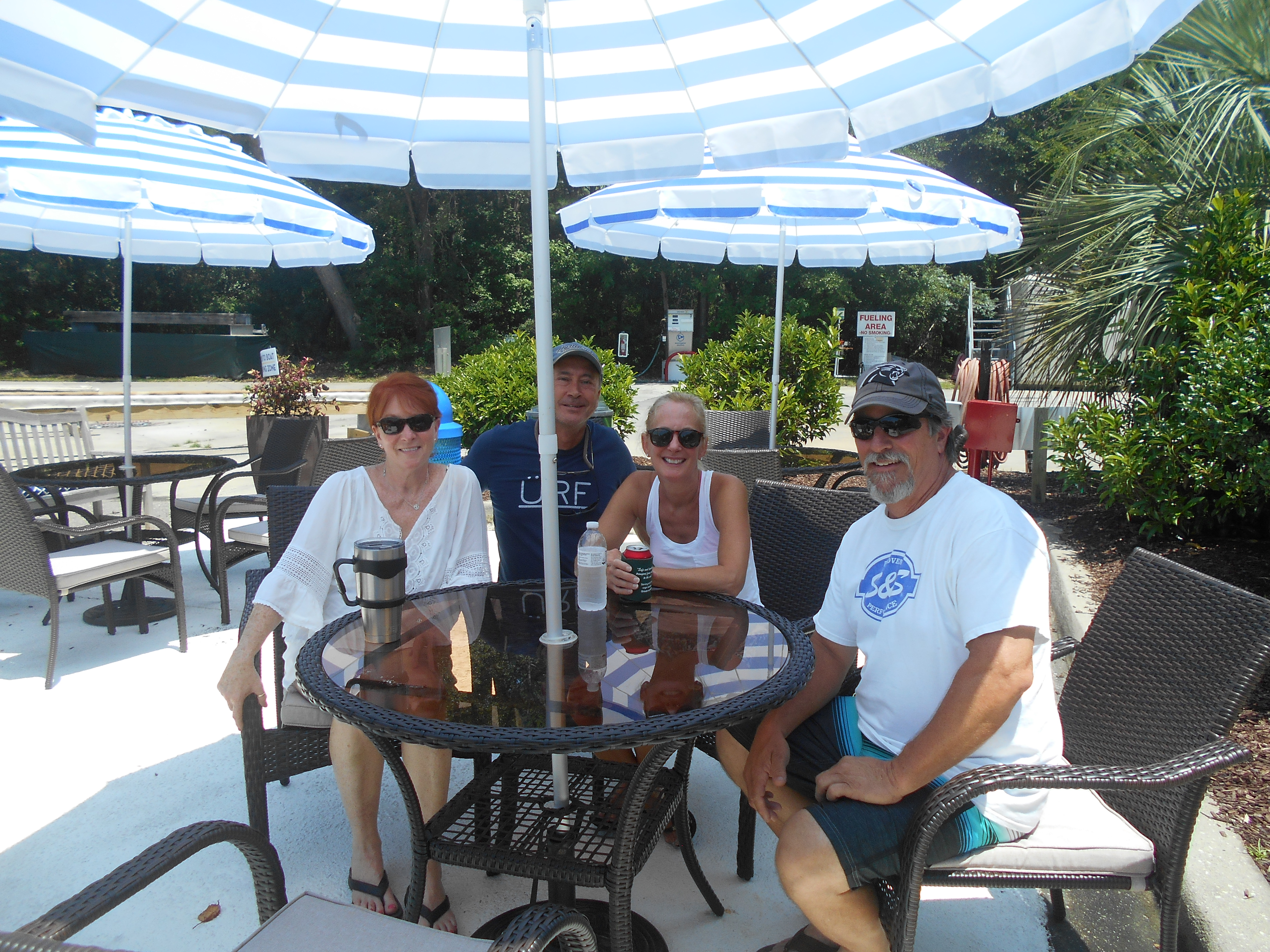 Members at the Curb to Boat patio at Reserve Harbor Yacht Club for July 4th