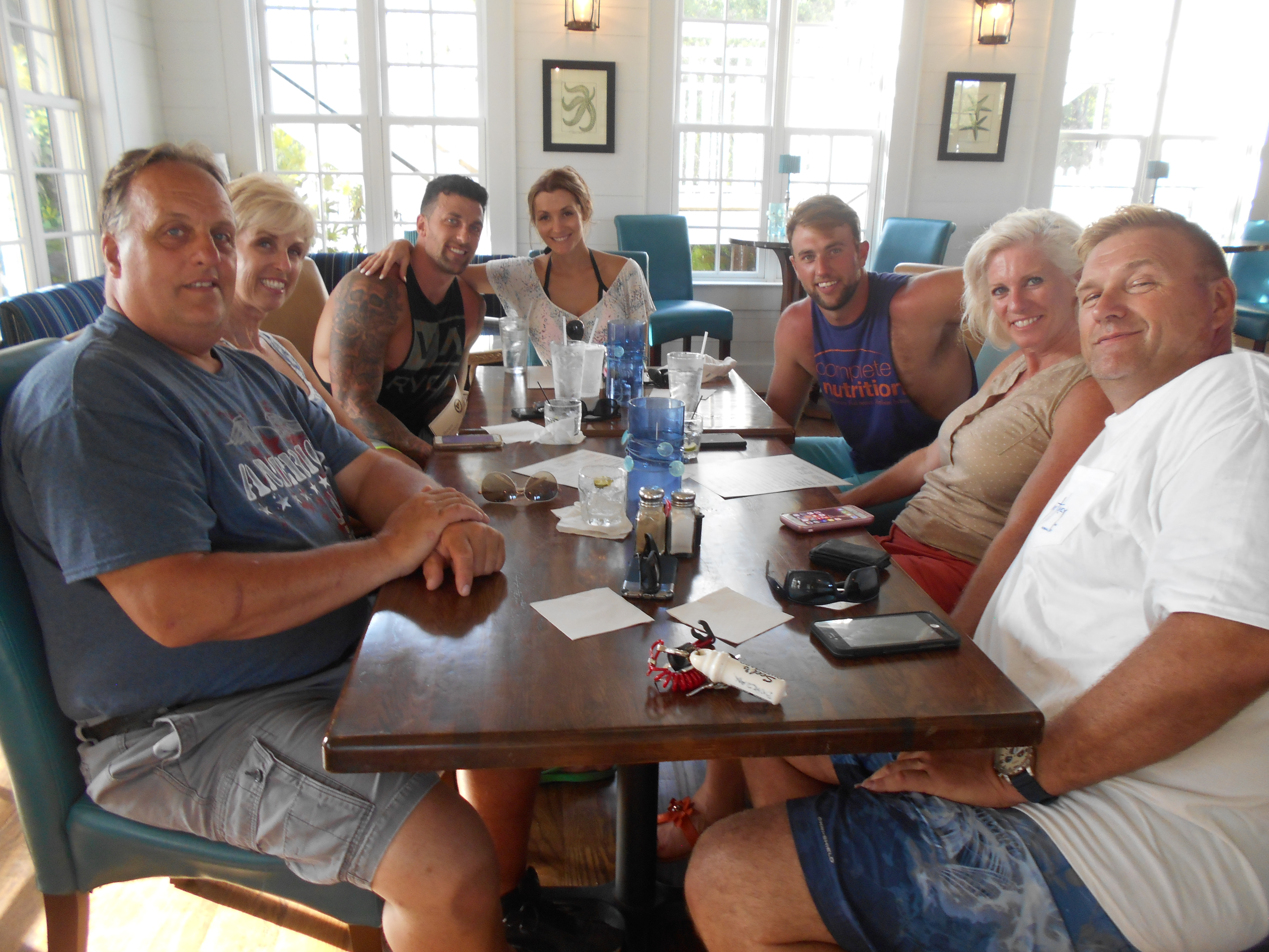 Members in the clubhouse at Reserve Harbor Yacht Club for July 4th