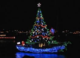 Christmas in July Lighted Boat