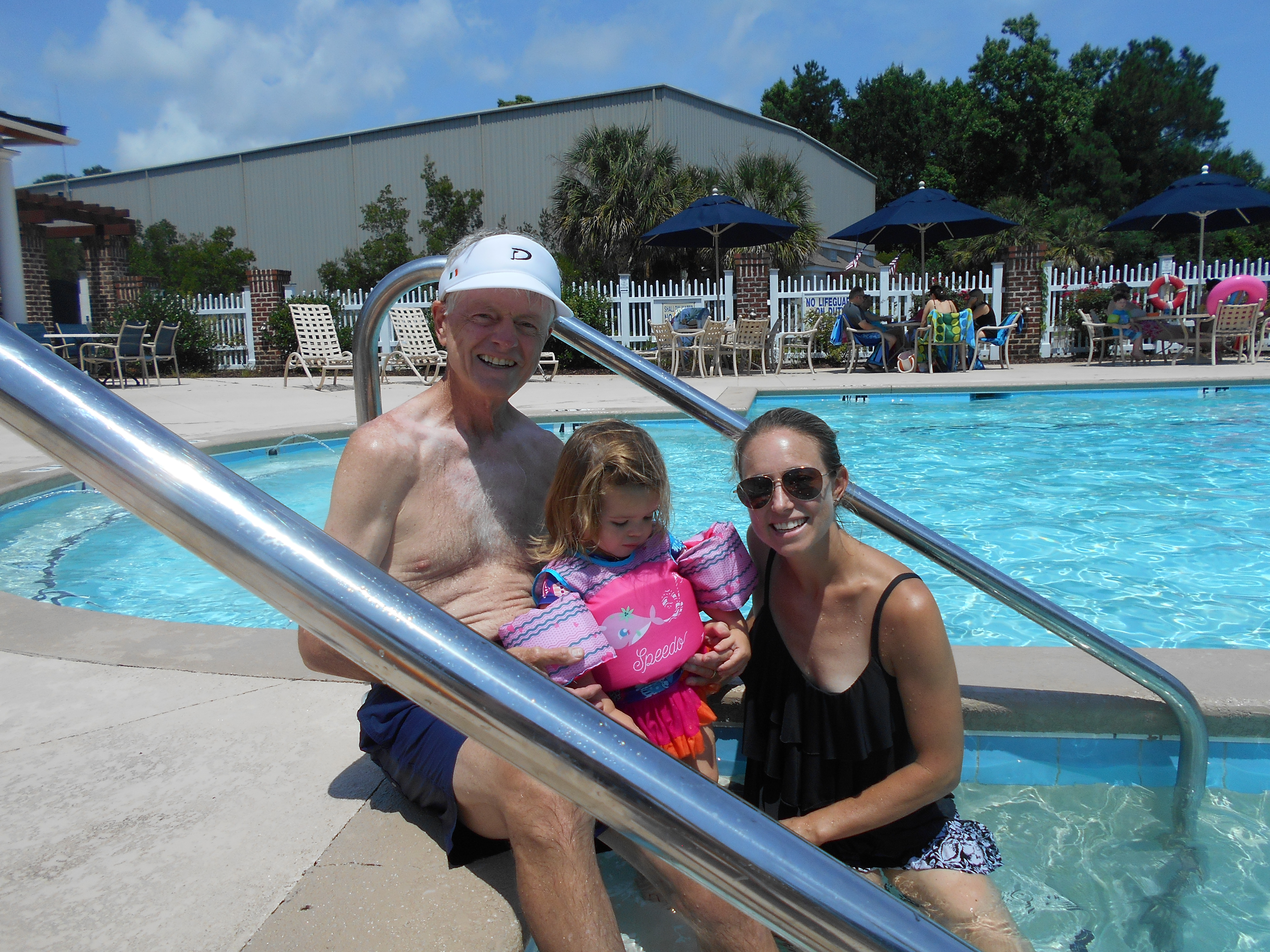 Dads and their families at RHYC on Father's Day